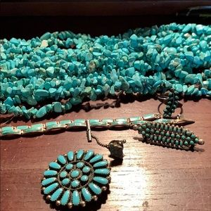 """8, 24"""" turquoise strand necklace"""
